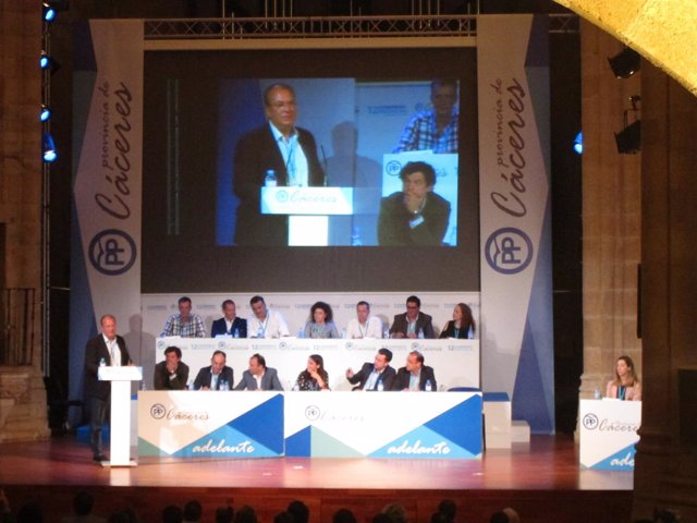Monago en el XII Congreso Provincial del PP en Cáceres