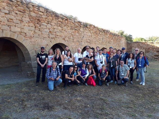Grupo de 'instagramers' en la piedra seca de la Segarra