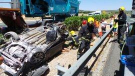 Cuatro muertos en las carreteras andaluzas durante el fin de semana