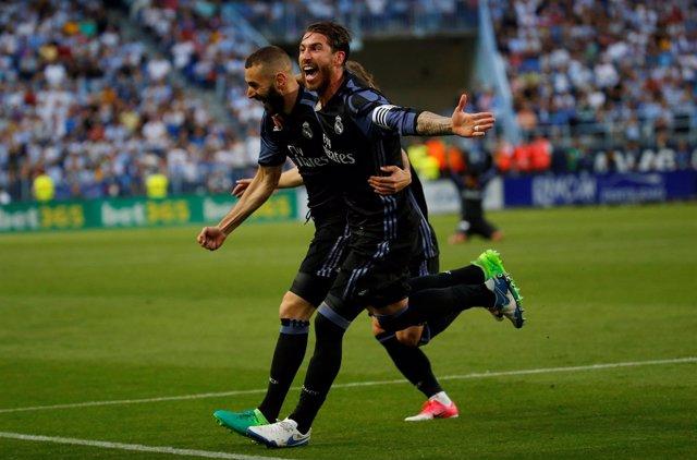 Sergio Ramos y Benzema, con el Real Madrid