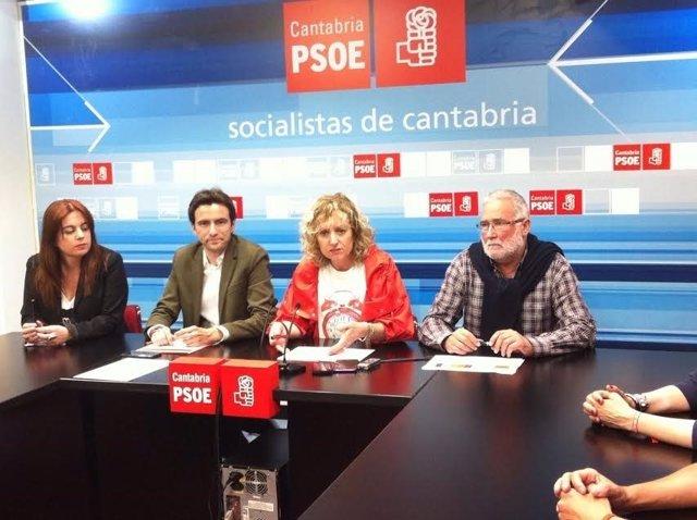 Tezanos en rueda de prensa con Ruiz, Casares y Abascal tras las primarias