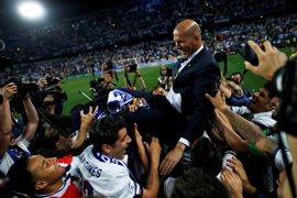 """Zidane: """"La clave del éxito ha estado en el grupo"""""""