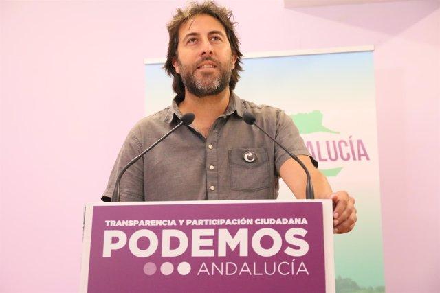 El secretario político de Podemos Andalucía, Jesús Rodríguez