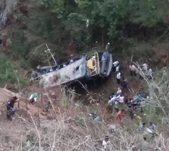 Accidente de autobús en Chiapas