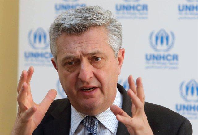 El responsable de ACNUR, Filippo Grandi