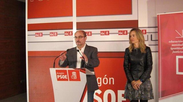 Javier Lambán y Pilar Alegría