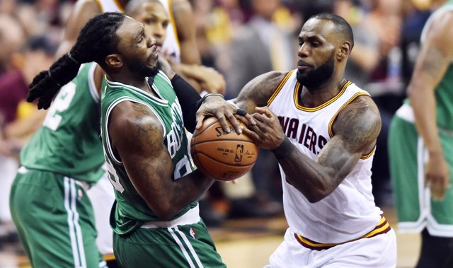 LeBron James en el Boston Celtics - Cleveland Cavaliers