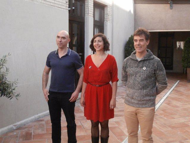 Los tres candidatos a la Secretaría General de Podemos Navarra