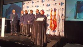 Puigdemont confía en que la plataforma de Carrefour en la ZAL Port atraiga más inversiones