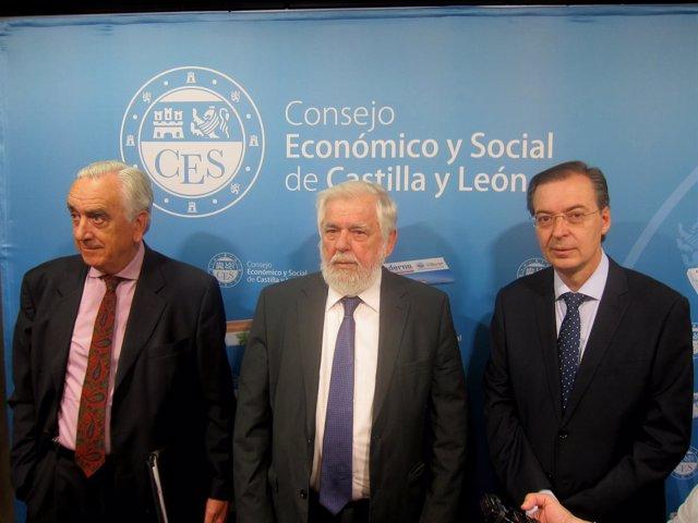 Marcos Penal, Georges Dassis Y Germán Barrios, En El CES Cyl.