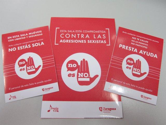 """Cartelería de la campala """"No es no"""" contra las agresiones sexistas"""