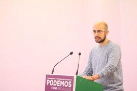 """Podemos insiste en una alternativa de """"contención"""" a las """"políticas del PP"""" que imponga Susana Díaz"""