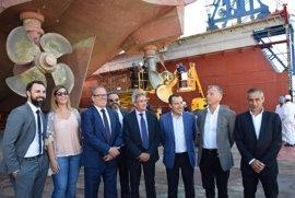 La Junta incentiva a los astilleros Mario López con unos 200.000 euros para una nueva nave de reparación de buques