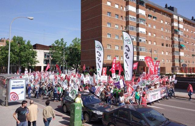 Manifestación para pedir un mejor sistema contra incendios en CyL