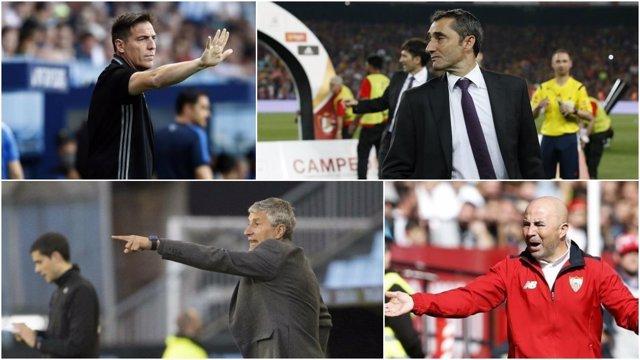 Berizzo, Valverde, Setién y Sampaoli, protagonistas en el baile de entrenadores