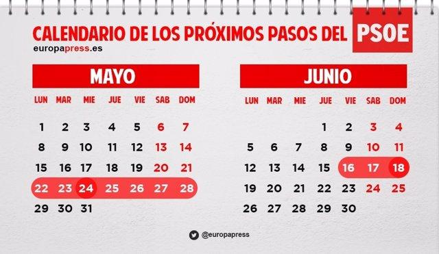 Calendario PSOE