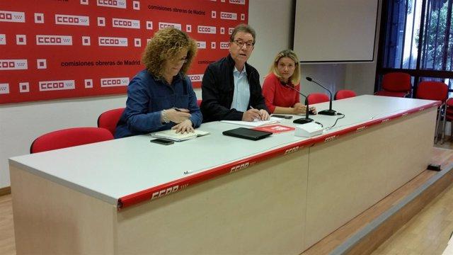 Jaime Cedrún presenta la nueva Ejecutiva de CCOO Madrid