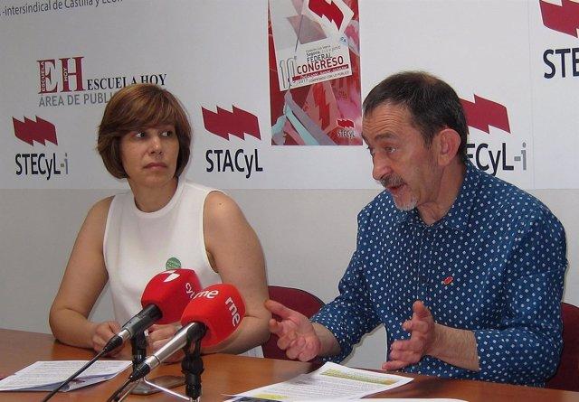 El portavoz de Stecyl, Pedro Escolar, junto a Cristina Fulconis