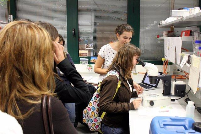 Alumnos andaluces en un instituto