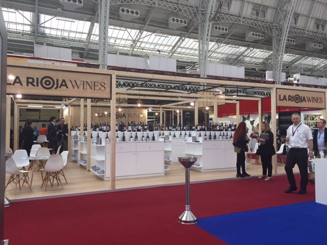 Stand de La Rioja en London Wine