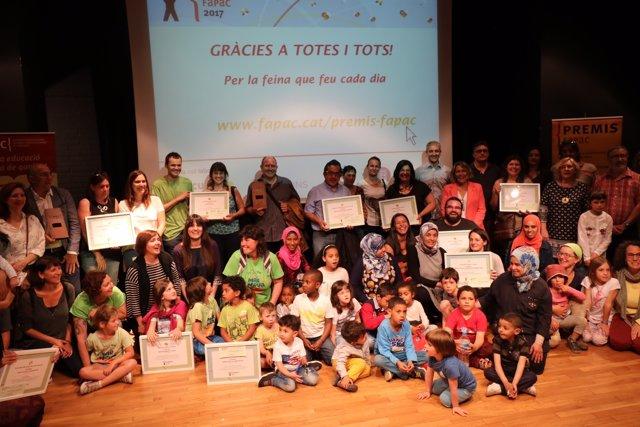 Guardonats amb els Premis Fapac 2017