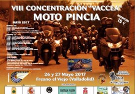 Fresno El Viejo (Valladolid) acoge este fin de semana la VIII edición de la Concentración Vaccea 'Moto Pincia'