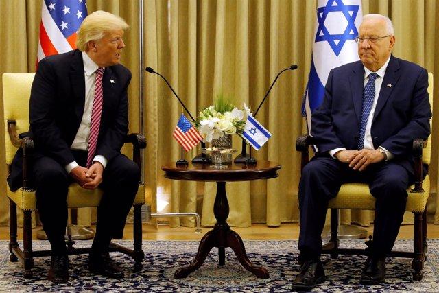 Donald Trump y Reuven Rivlin