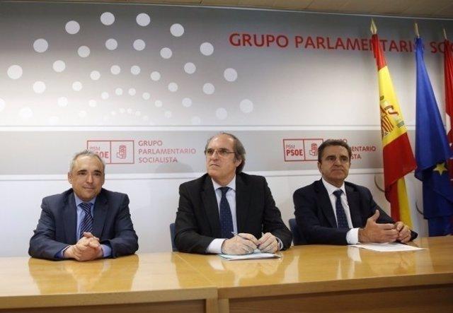 Ángel Gabilondo con Rafael Simancas y José Manuel Franco