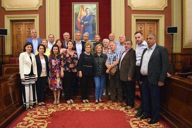 Delegación de alcaldes rumanos