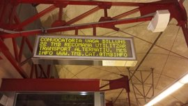 Sindicatos cifran en el 95% el seguimiento de la cuarta jornada de huelga del Metro