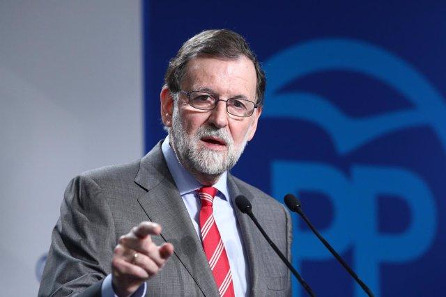 Rajoy ofrece una rueda de prensa tras la reunión del Comité Ejecutivo del PP
