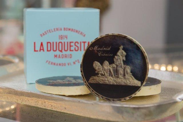Galletas de chocolate de La Duquesita regaladas al Real Madrid