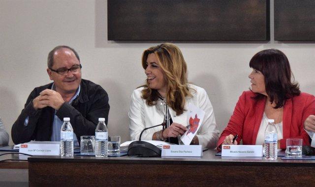 Susana Díaz, en la Comisión Ejecutiva Regional del PSOE-A