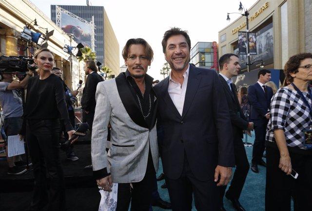 Javier Bardem y Johnny Depp