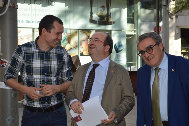 Óscar Ordeig, Miquel Iceta y Àngel Ros