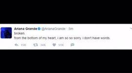 """La cantante Ariana Grande dice estar """"destrozada"""" tras el incidente en el Manchester Arena"""