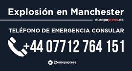 Embajada de España en Reino Unido recuerda el teléfono de emergencia consular tras el incidente de Manchester