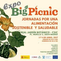 Expo Big Picnic, se celebrará el 3 y 4 de junio en el Real Jardín Botánico