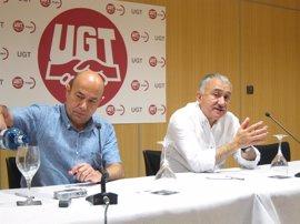 """Álvarez (UGT) pide al PSOE que """"deje de mirarse internamente"""" y trabaje de cara a los ciudadanos"""
