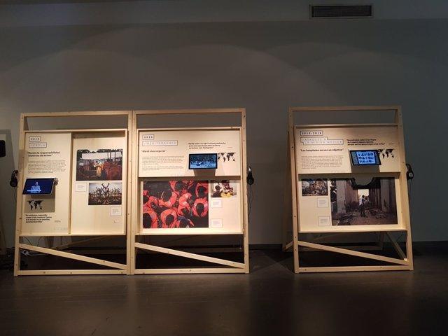 Imagen de la exposición de Médicos Sin Fronteras