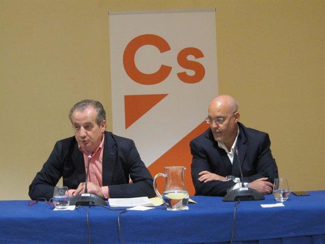Arturo Soria (director de Aedive) y Nicanor García, portavoz de Ciudadanos Astur