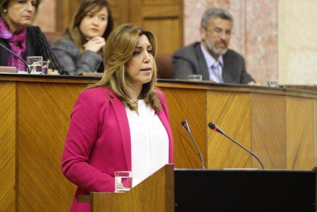 Susana Díaz interviene en el Parlamento de Andalucía