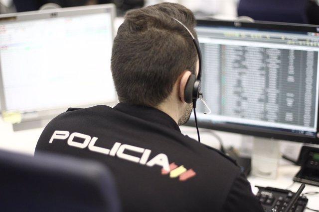 Policía Nacional en la Jefatura Superior de Policía de Madrid