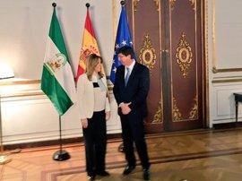Susana Díaz analiza con Marín si se pueden acelerar los compromisos de investidura