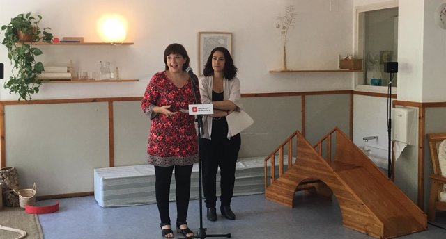 La teniente alcalde Laia Ortiz y la concejal Laura Pérez