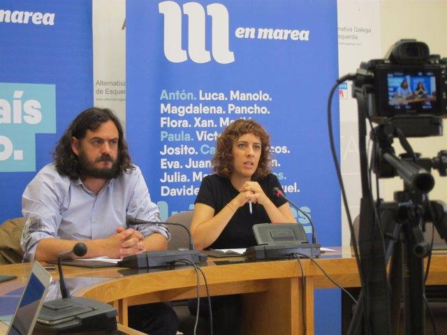 Antón Sánchez y Alexandra Fernández (En Marea)
