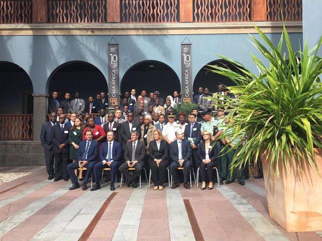 Foto de familia del encuentro de inteligencia Frontex África
