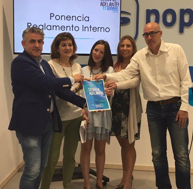 Presentación de la ponencia en el PP de Segovia.