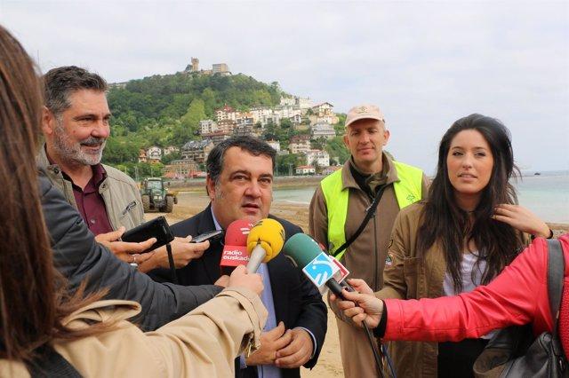 Ernesto Gasco en Ondarreta.