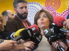 """Soraya Sáenz de Santamaría: """"La unidad de los demócratas es la debilidad de los terroristas"""""""